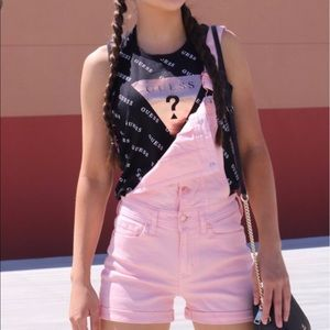 NWT GUESS Pink Overall Shorts